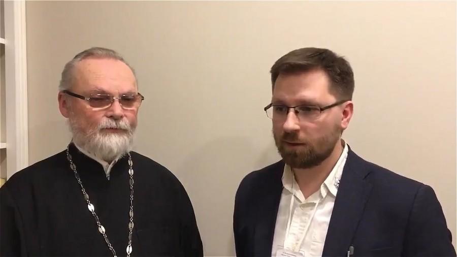 Священник Георгий Кочетков и Андрей Васенёв, председатель православного Боголюбского братства г. Твери