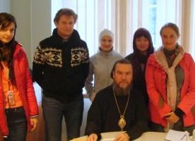 Епископ Нарвский и Причудский Лазарь принял гостей из Преображенского братства