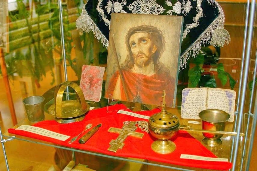 Церковная утварь, использовавшаяся на тайных богослужениях в Кемском и Соловецком лагерях