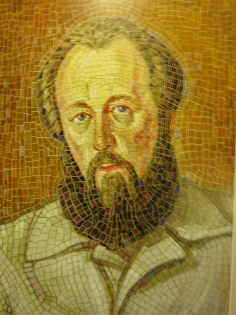 Эскиз мозаичного портрета Александра Исаевича Солженицына, 1975 год