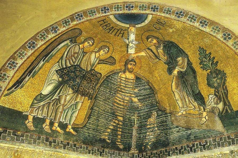 Мозаика, монастырь Осиос Лукас, XI в.
