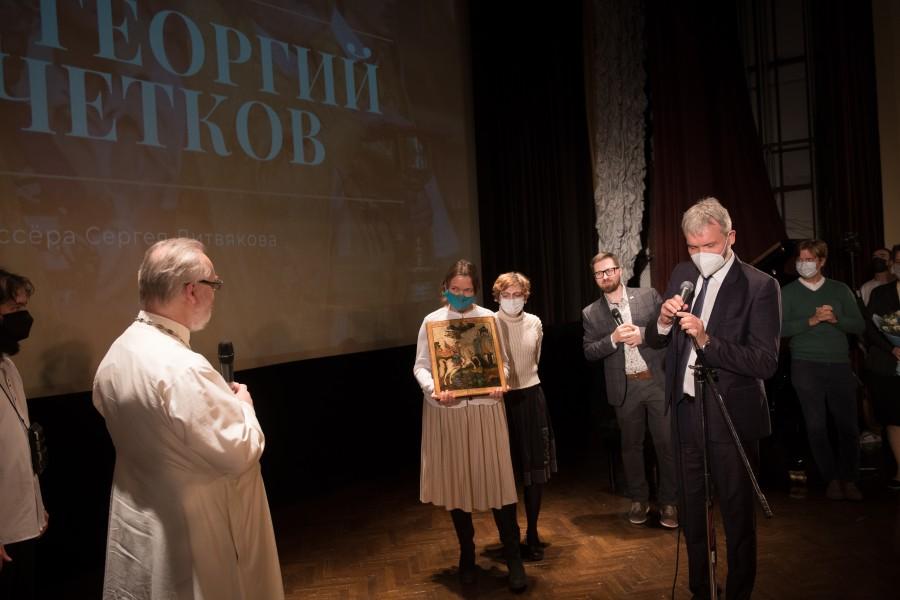 Праздничный вечер в честь семидесятилетия священника Георгия Кочеткова. Фото: Евгений Гурко