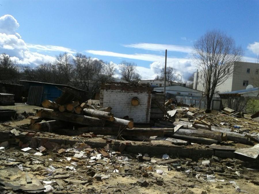 Руины дома Малышевых