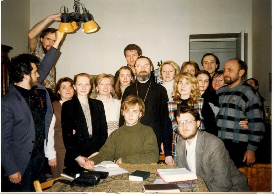 На огласительной встрече в Санкт-Петербурге. 1997 год