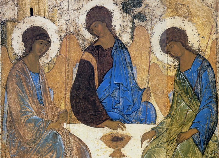 Икона Святой Троицы. Андрей Рублев, XV в.