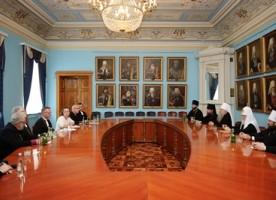 Святейший Патриарх Кирилл встретился с делегацией Евангелическо-лютеранской церкви ...