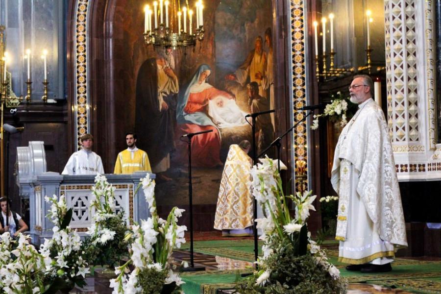 Проповедь на литургии в храме Христа Спасителя, 23 августа 2015 года