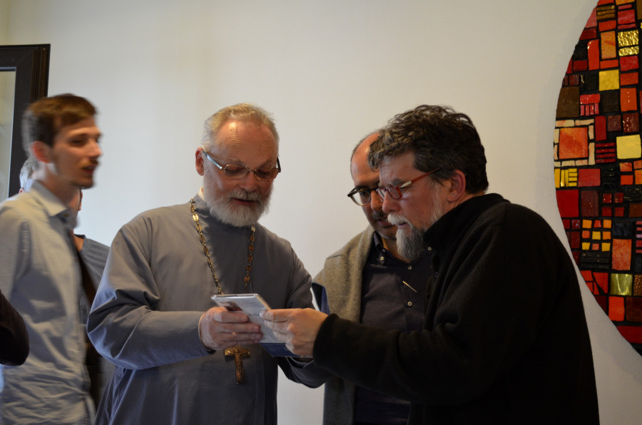 Священник Георгий Кочетков с приором Бозе Лучиано Маникарди