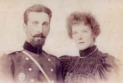 Старинное фото супружеской пары