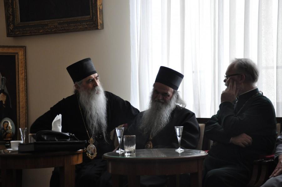 С митрополитом Бачским Иринеем (Буловичем)