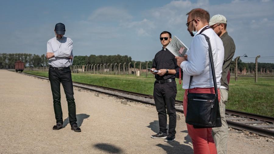 Крестный путь в Аушвиц-Биркенау. Фото Pawel Kerska, Maximilian Kolbe Stiftung, Poland