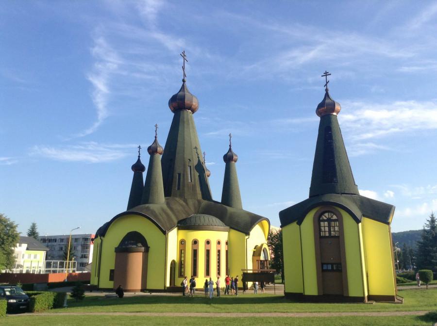 Свято-Троицкая церковь в г. Свидник, где участники встречи были на вечерне во время путешествия по окрестностям Прешова