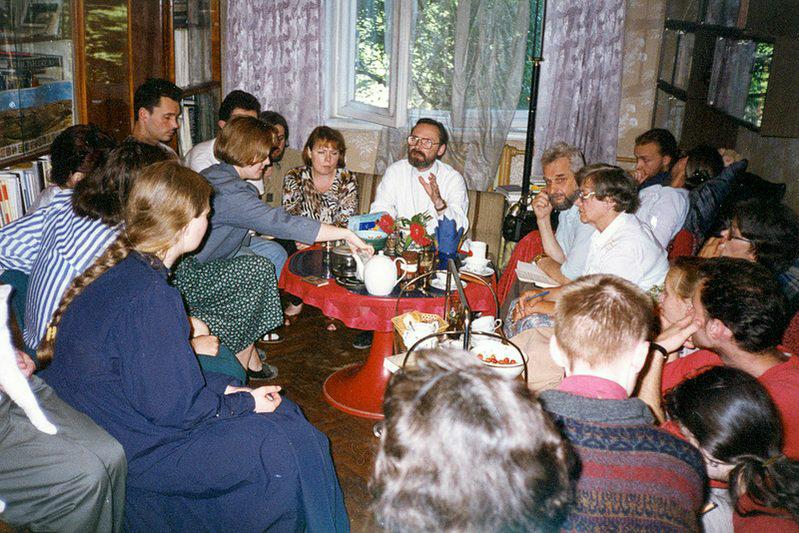 На огласительной встрече в Риге. Начало 1990-х годов
