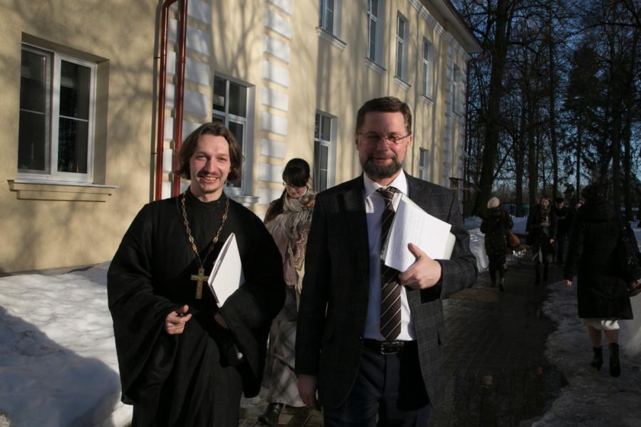 Священник Димитрий Дмитриев, канд.богословия, руководитель молодежного сообщества «Агиасма» (Санкт-Петербург); Дмитрий Гасак