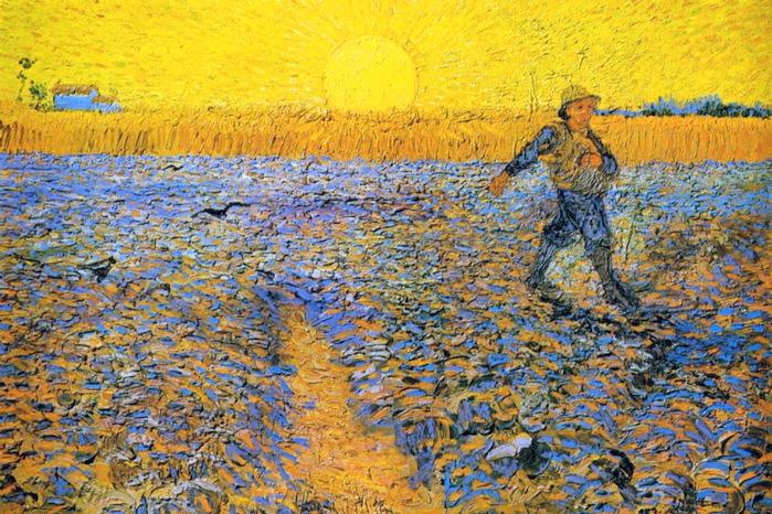 Винсент Ван Гог. Сеятель (Сеятель на закате). 1888