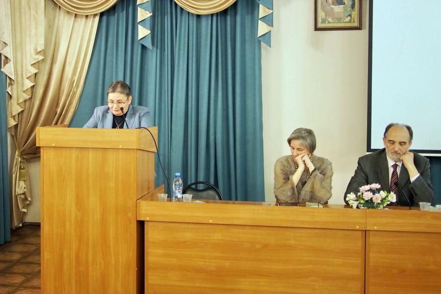 Выступление профессора Ольги Евдокимовой