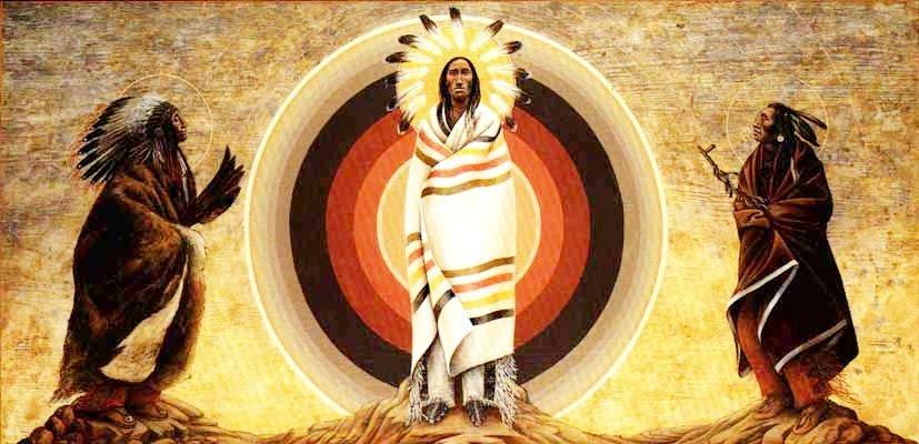 Преображение Господне. Икона православных индейцев