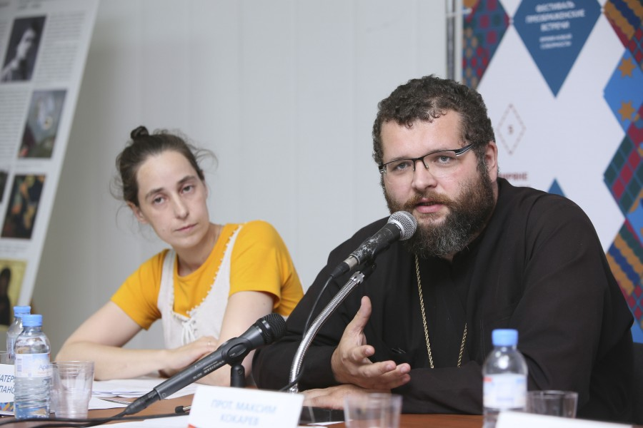 Ekaterina Stepanova, Historian and Teacher at the SFI Theological College; Fr Maxim Kokarev, Head of the Practical Church Department at the seminary in Samara