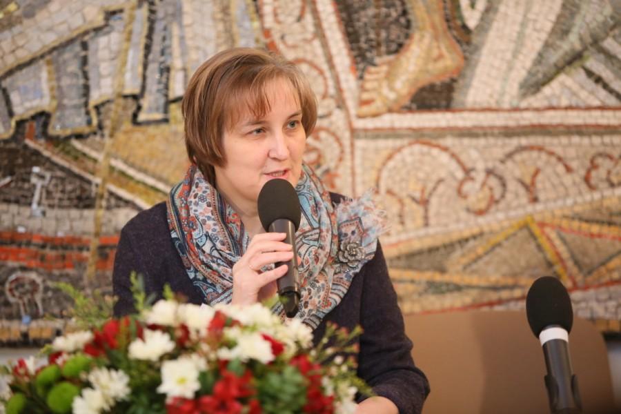 Юлия Балакшиина, д. филол. н., ученый секретарь Свято-Филаретовского института, председатель оргкомитета конференции (Санкт-Петербург)