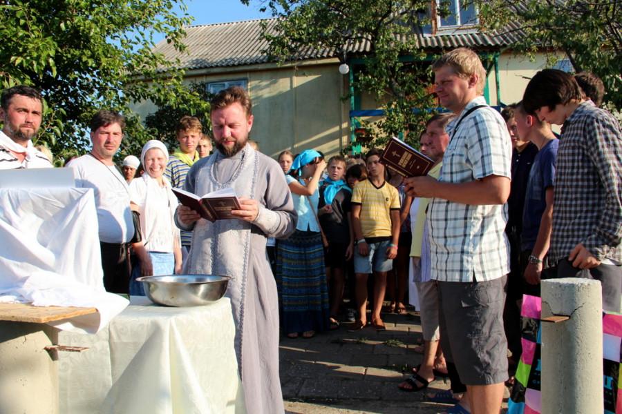 Молебен на освящение подросткового лагеря, Керчь