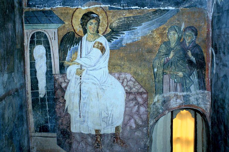 Ангел на Христовом гробу, Милешева, 1228 г.