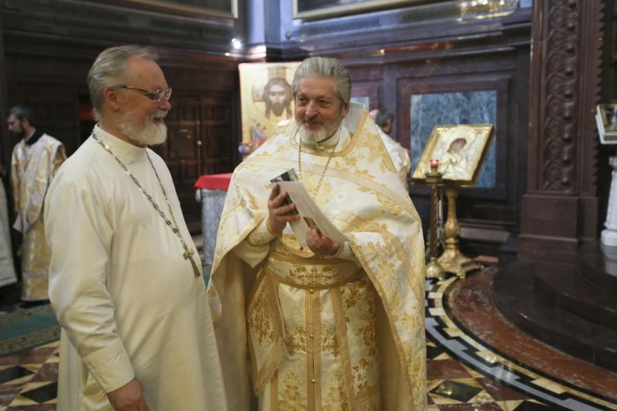 Священник Георгий Кочетков и протоиерей Михаил Рязанцев