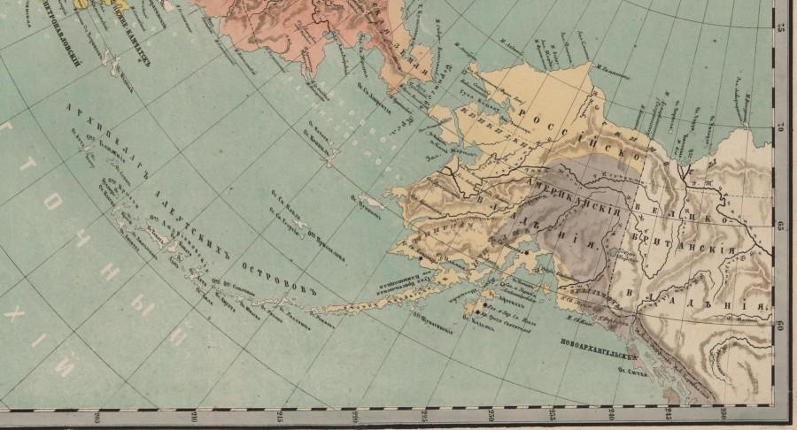 Этнографическая карта Русской Америки на 1860 год