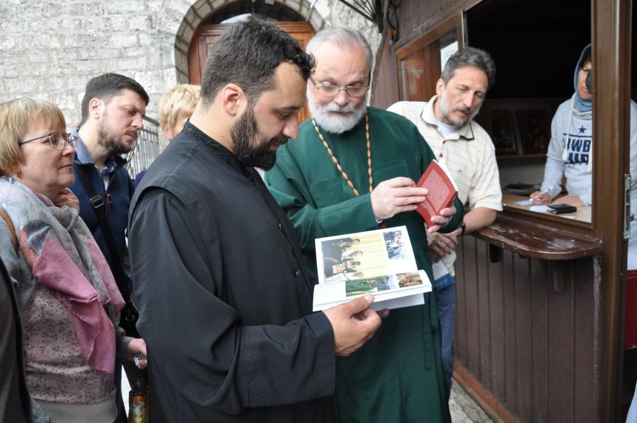 С пресс-секретарем Черногорской митрополии свящ. Анжелко Боричичем