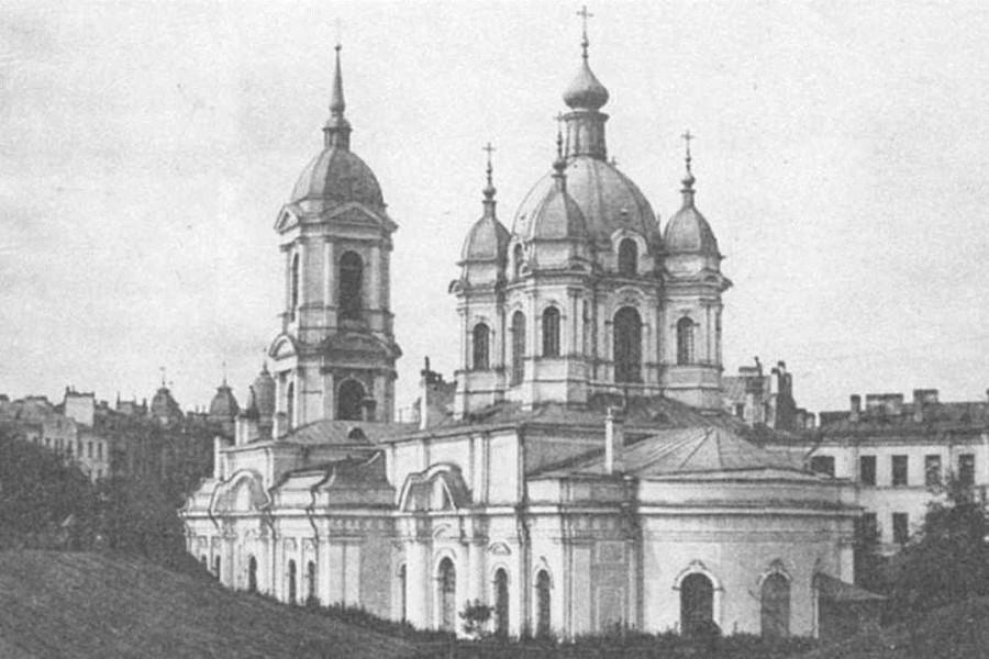 Храм апостола Матфия на Петроградской стороне. Взорван в 1932 г.