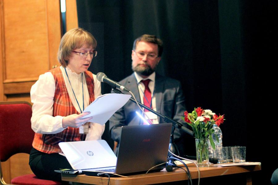 Лидия Крошкина, преподаватель СФИ, Дмитрий Гасак, председатель Преображенского братства