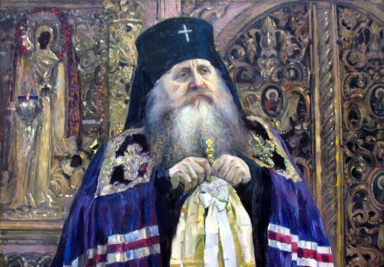 Митрополит Антоний (Храповицкий), основатель «карловацкого» раскола. Картина Михаила Нестерова. 1917 год