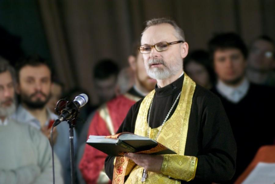 На Сретенском соборе Преображенского братства. Февраль 2014 года