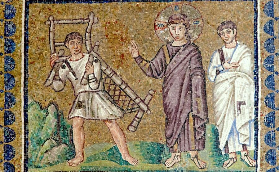 Исцеление расслабленного у купальни Вифезде. Италия. Равенна; VI в.; базилика Сант-Аполлинаре-Нуово