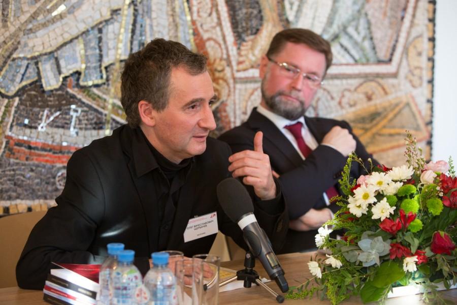 Олег Щербачев, предводитель Московского Дворянского собрания (Москва); Дмитрий Гасак, председатель Преображенского братства, первый проректор СФИ (Москва)