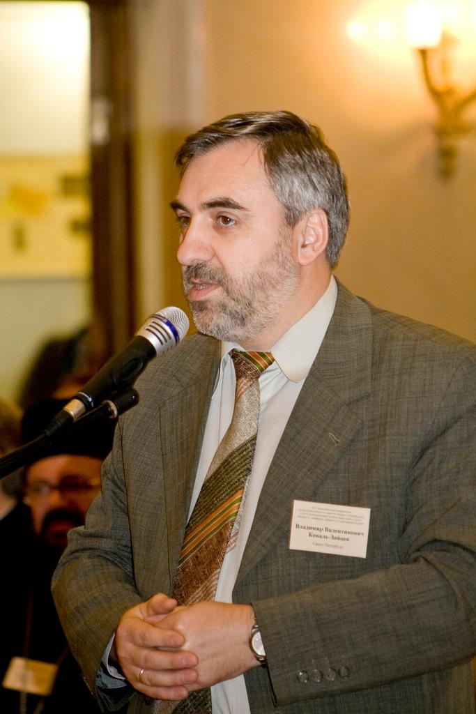 Председатель Преображенского братства В.В. Коваль-Зайцев