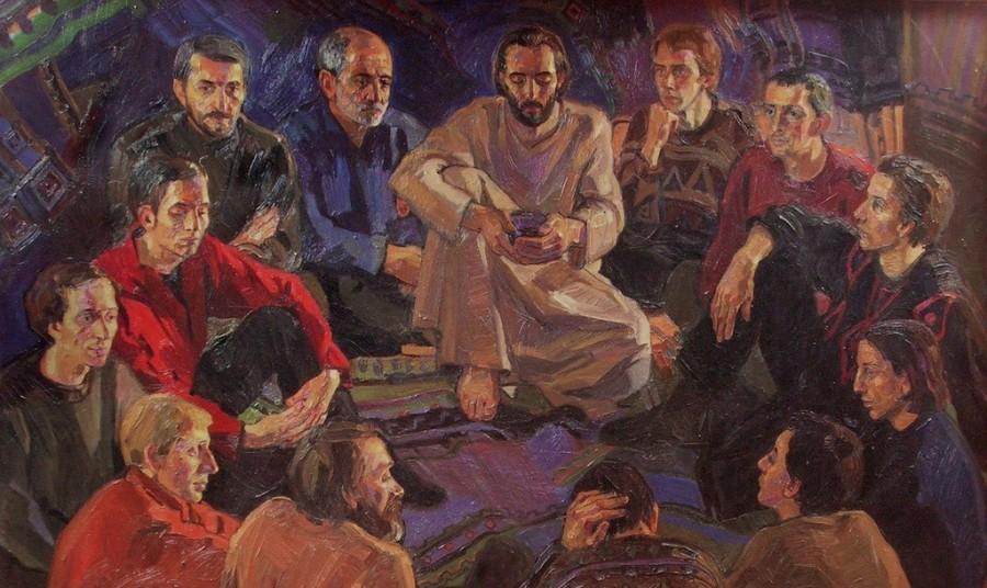 Шура Журавлёва. Христос и апостолы