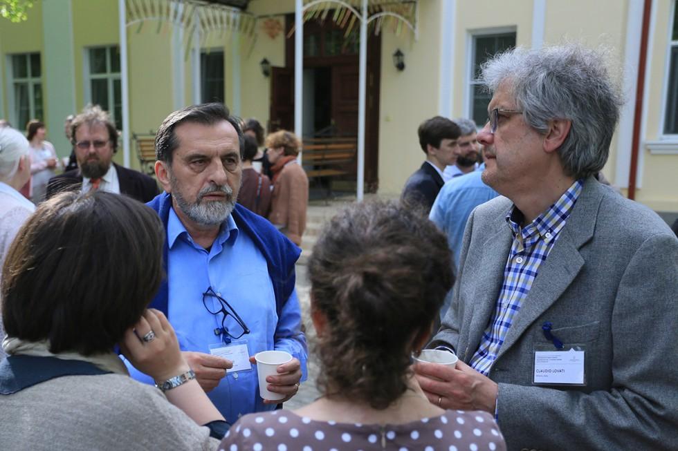 Альфредо Поцци (справа) и Клаудио Ловати на конференции «Служение церкви и её устройство»