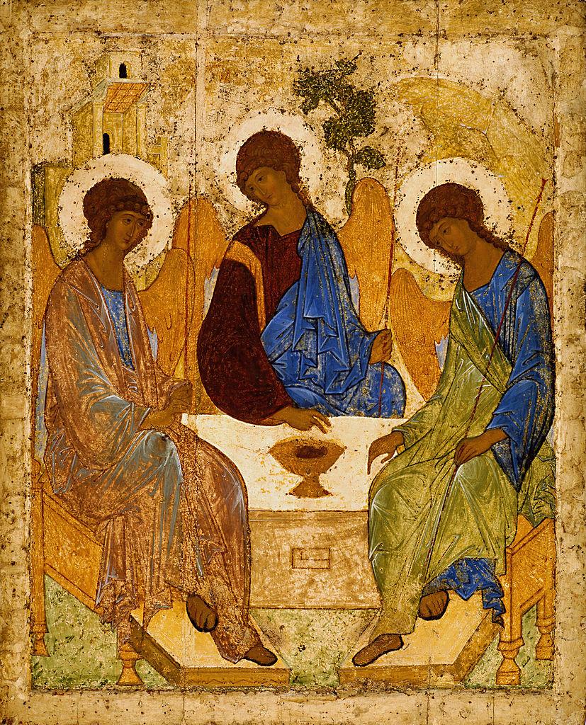Икона «Троица». Андрей Рублёв