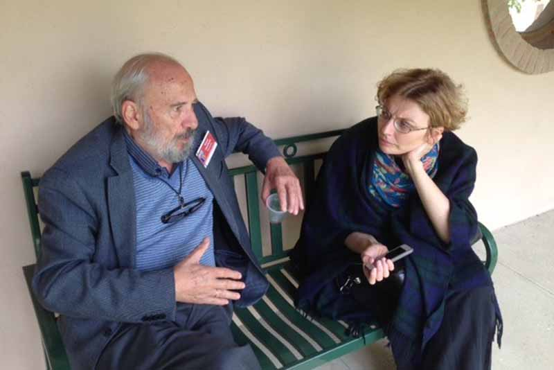 Professor Petros Vassiliadis and Zoya Dashevskaya, Dean of SFI's School of Theology