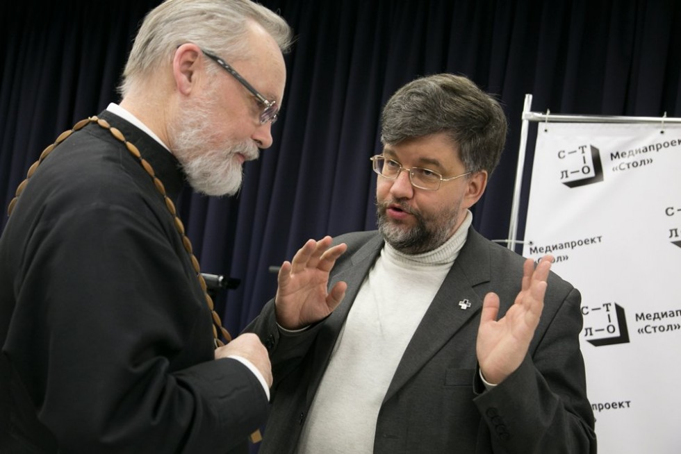 Священник Георгий Кочетков и историк Кирилл Александров