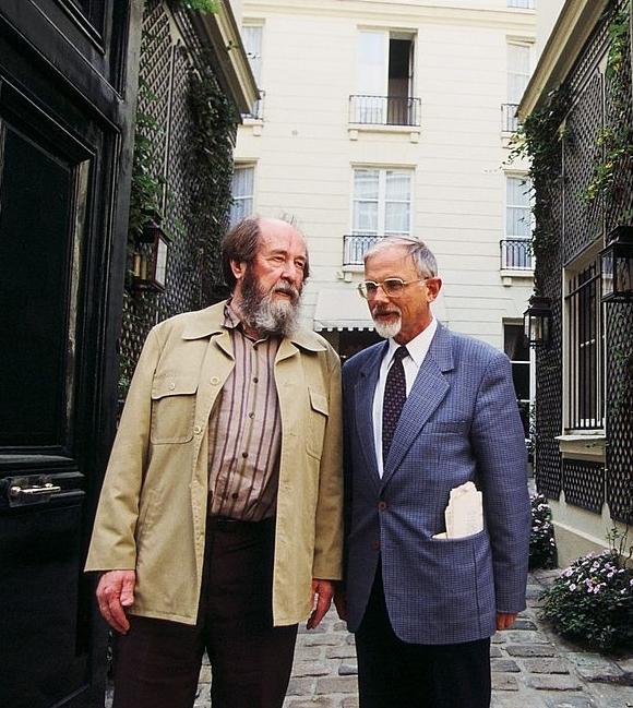 Никита Струве и Александр Солженицын. Фото:liveinternet.ru