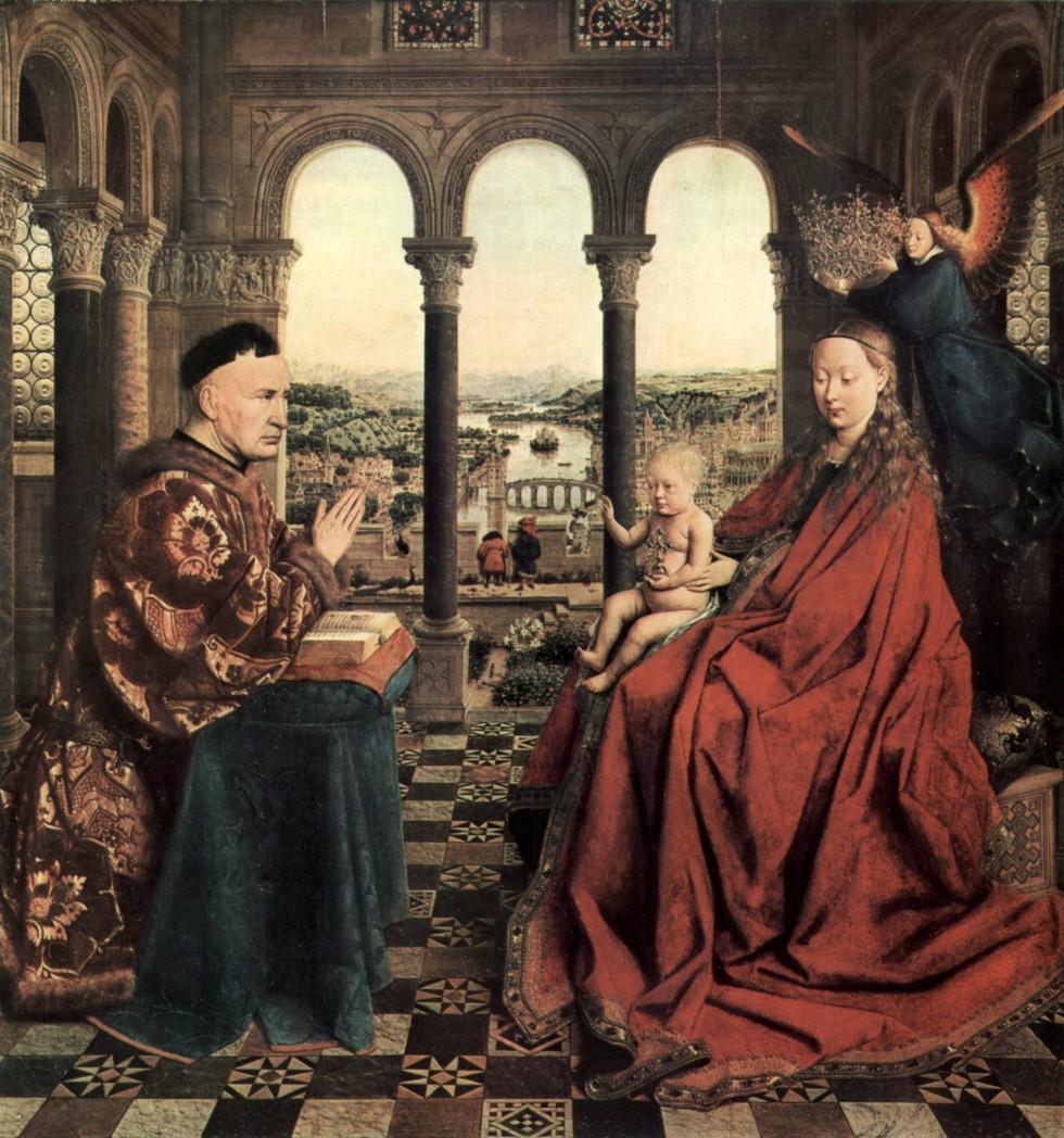 Ян ван Эйк. Мадонна канцлера Ролена, ок. 1450. Лувр, Париж