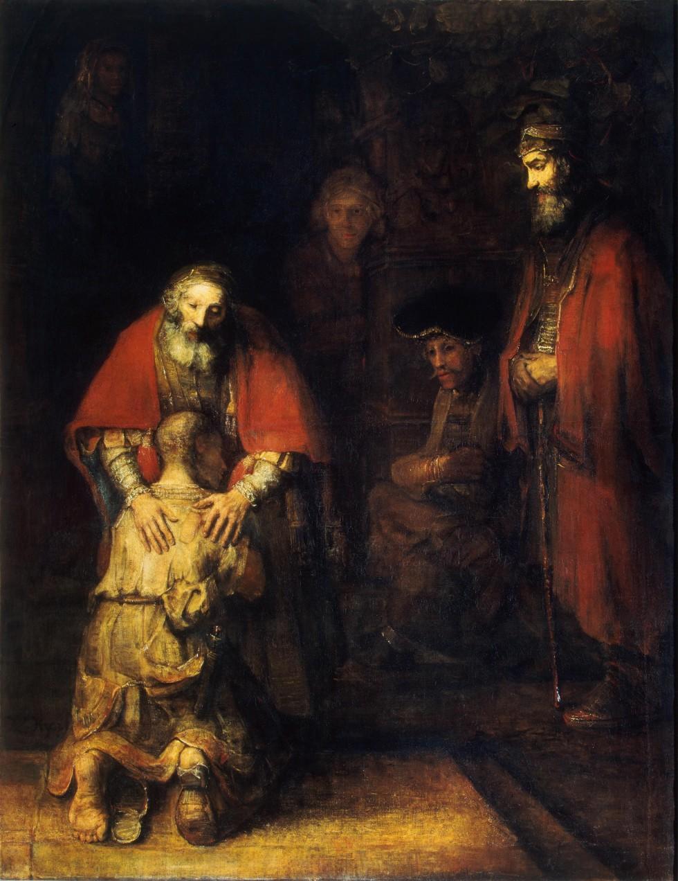 Рембрандт Харменс ван Рейн. Возвращение блудного сына. Ок. 1666–1669. Фото: hermitagemuseum.org