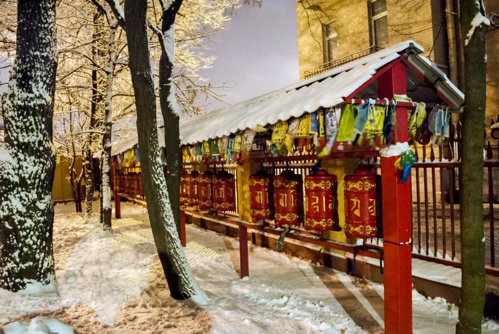 Буддийские молитвенные барабаны