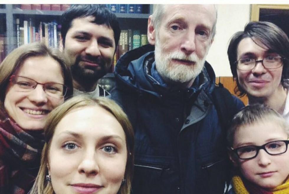 Григорий Борисович со студентами
