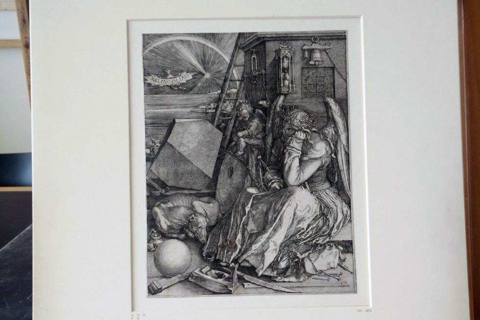 Альбрехт Дюрер. Меланхолия. Резцовая гравюра на меди. 1514