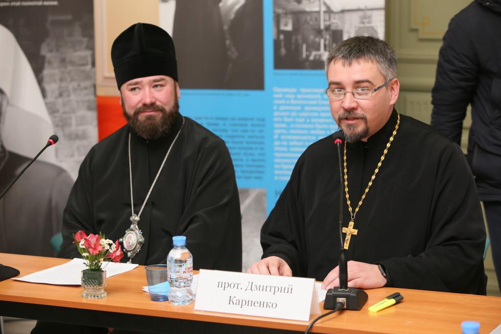 Епископ Губкинский и Грайворонский Софроний и протоиерей Дмитрий Карпенко