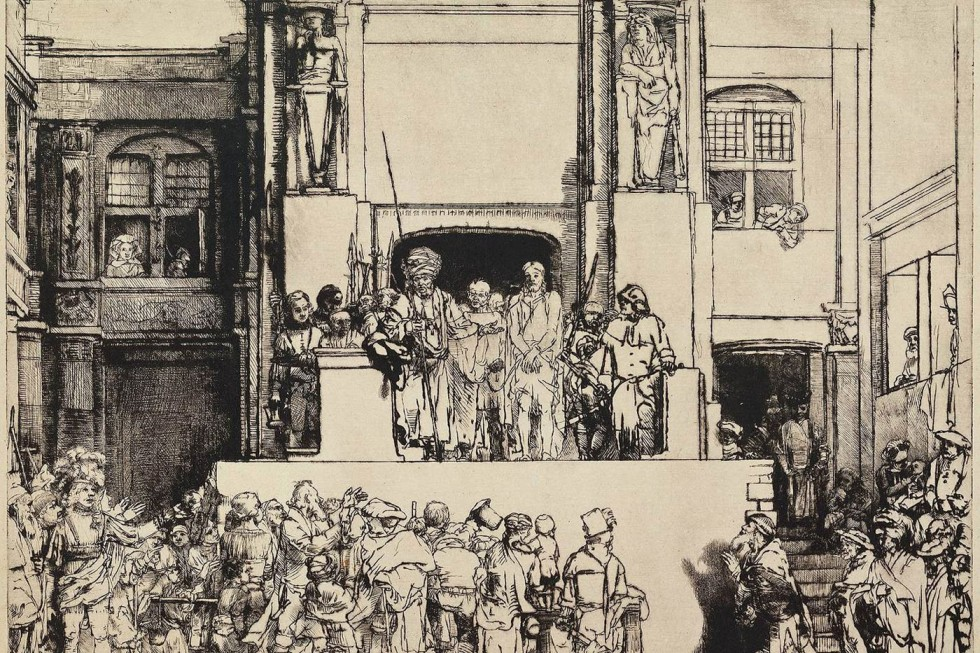 Рембрандт Харменс ван Рейн. Христос перед народом(1655)
