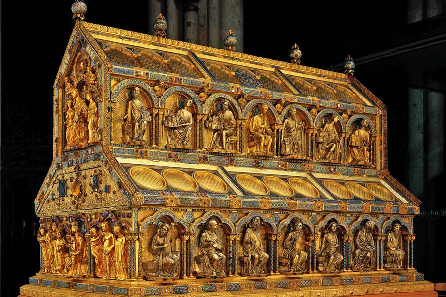 Реликварий трёх волхвов. Конец XII – начало XIII века. Кёльнский собор