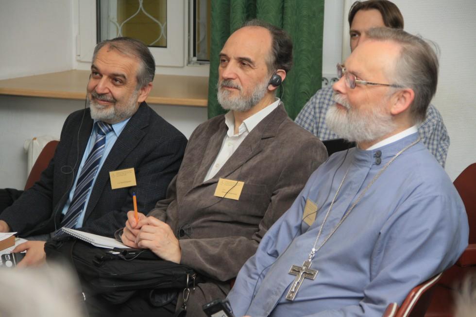 Профессор священник Георгий Кочетков, профессор Александр Копировский, профессор Давид Гзгзян